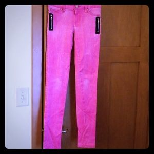 TRIPP NYC hot pink skinny jeans/pants size 1 0